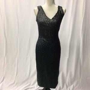 Rachel Roy Ombre Sequin Midi Dress